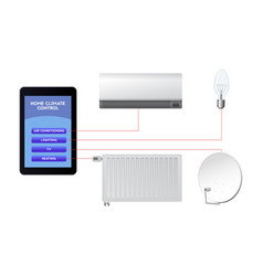 control your smart home air conditioning vector image