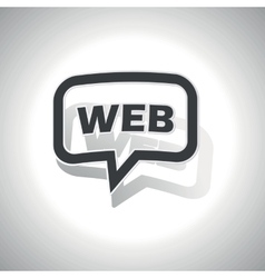 Curved WEB message icon vector image