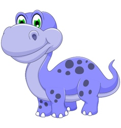 Cute dinosaur cartoon smiling vector