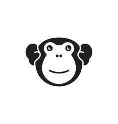 Cute monkey logo vector image