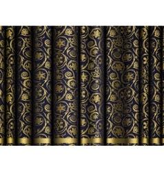 Dark Curtain Snowflakes vector