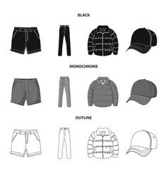 design of man and clothing icon set of man vector image