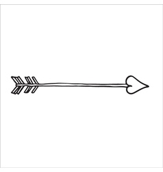 Doodle of cupids arrow vector