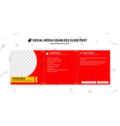 Editable social media seamless slide post feed vector