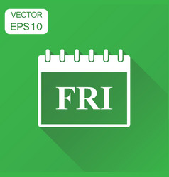 friday calendar page icon business concept friday vector image