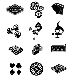 Gamble icons set vector