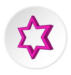 Geometric figure star icon cartoon style vector
