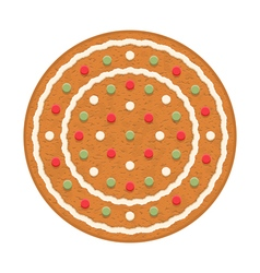 Gingerbread circle vector