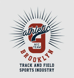graphic athletic nyc team brooklyn vector image