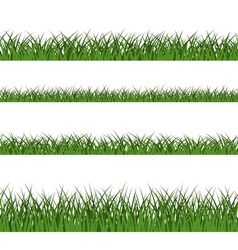 Green grass seamless pattern line design vector image