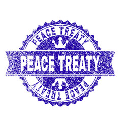 Grunge textured peace treaty stamp seal vector
