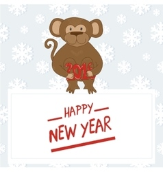 Hand-drawn cartoon style monkey 2016 the Chinese vector image