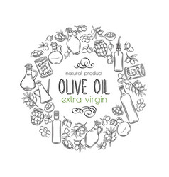 Hand drawn sketch olives vector
