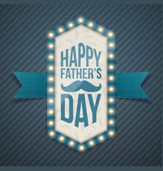 Happy fathers day greeting banner with mustache vector