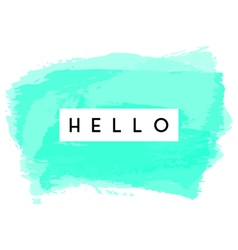 Hello Greeting Card Design vector image