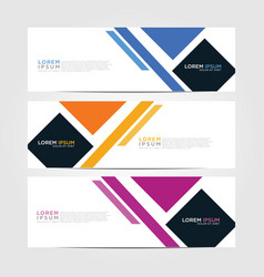 Horizontal sale banner sale and discounts set vector