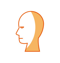 Human head profile male character vector