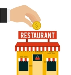 Investment in restaurant isolated icon design vector