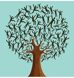 Isolated Diversity Tree people vector image