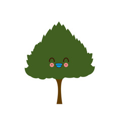 Kawaii tree nature forest image vector