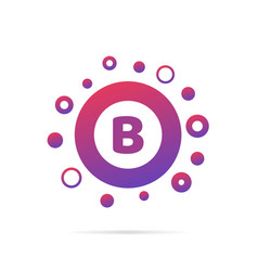 letter b with group of dots icon sign vector image