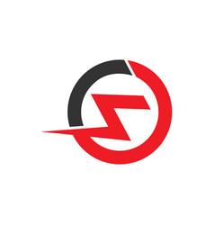 letter s thunder power shape logo vector image