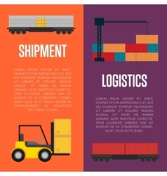Logistics and shipment banner set vector image