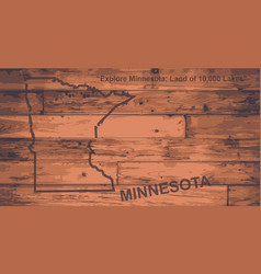 Minnesota map brand vector