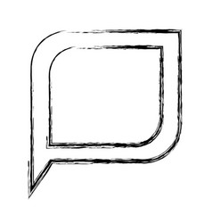 Monochrome blurred silhouette of bubble speech vector