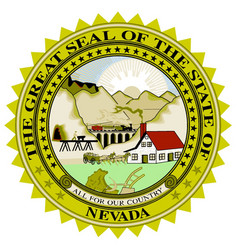 Nevada state seal vector
