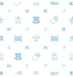 newborn icons pattern seamless white background vector image