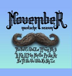november mustache season vector image