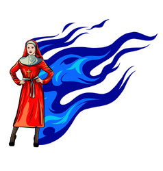nun nurse female possessed demon vector image