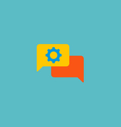 online support icon flat element vector image