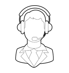 Operator icon outline style vector image