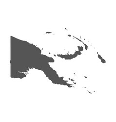 Papua new guinea map black icon on white vector