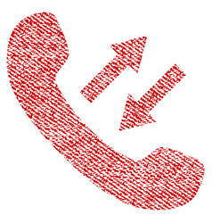 Phone talking fabric textured icon vector