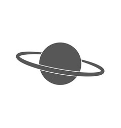 Planet ring saturn black icon on white background vector