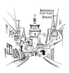 rothenburg ob der tauber germany vector image