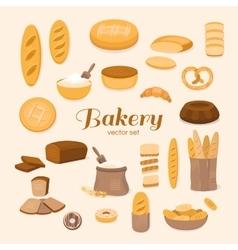 Set of bakery vector