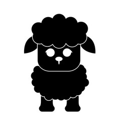 Sheep cute animal cartoon icon image vector