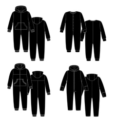 sketch Four overalls vector image