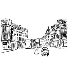 Sketch of regent street vector