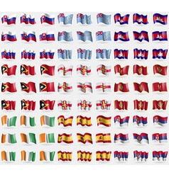 Slovakia Tuvalu Cambodia East Timor Guernsey vector
