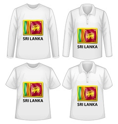 Sri Lanka shirt vector image