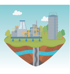 tank pipeline production process exploration vector image
