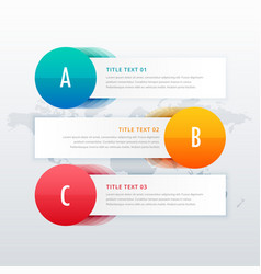 Three steps clean infographic for business vector