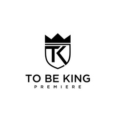 tk signs with crowns vector image