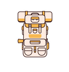 tourist backpack line icon vector image