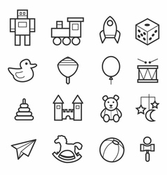 Toys icon collection vector